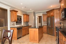 concrete countertops kitchen paint colors with maple cabinets