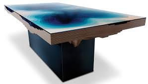 extraordinary table design reveals undersea scene home and design