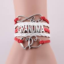 infinity love leather bracelet images Infinity love mom grandma bracelet gift heart feet charm rope jpg