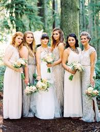 Wedding Bridesmaid Dresses 7 Bridal Parties Who Totally Nailed The U0027mismatched Dresses U0027 Trend