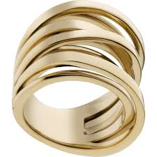 large gold rings images Michael kors gold tone large intertwined ring mkj2597 size 7 bnwt jpg