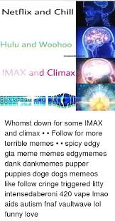 Woohoo Meme - netflix and chill hulu and woohoo olism memet imax and climax