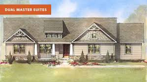 House Plans With Dual Master Suites by Oakley G Dual Master Suite House Plan Schumacher Homes