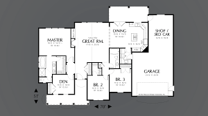 Continental Homes Floor Plans Mascord House Plan 1144b The Riverton