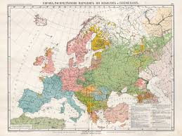 Language Map Of Europe by Europe Distribution Of Population After Languages And Races