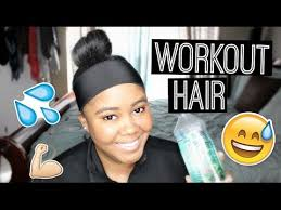 dri sweat headband transitioning tips protect hair during a workout