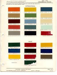 paint chips 1953 international truck commercial