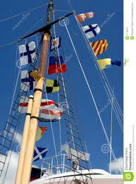 Navy Flag Meanings Ship U0027s Mast With Naval Flags Stock Photo Image 1119510