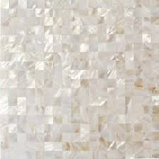 splashback tile of pearl white square pearl shell mosaic