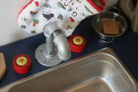Play Kitchen Sink by The Brooding Hen Simple Play Kitchen Sink