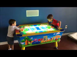 kids air hockey table kid air hockey table youtube