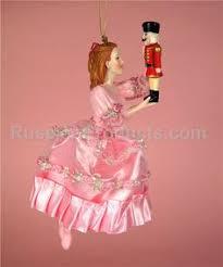 nutcracker ballet clara in white pink ornaments new