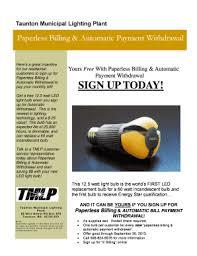 taunton municipal lighting plant fillable online sign up today taunton municipal lighting plant