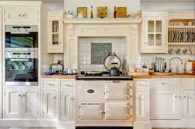 aga cuisine copper mosaic tile kitchen farmhouse with aga mantel shelf neutral