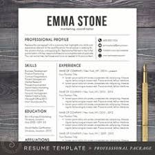 professional resume template us letter a4 word cv template