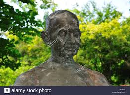 Garden Art International Statue Of Mahatma Gandhi In The Indian Garden At International