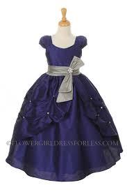 Flower Girls Dresses For Less - kk 2044ry girls dress style 2044 royal blue dress with silver