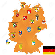 Map Of Hamburg Germany by Detailed Map Of Germany With Coat Of Arms And Borders Stock Photo