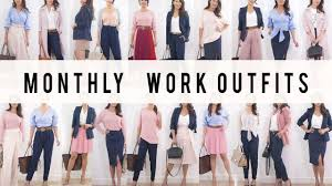 monthly work options style mix match ideas le