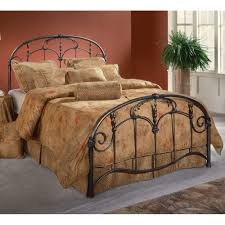 Antique Headboard And Footboard Jacqueline Antique Iron Bed In Old Brushed Pewter Humble Abode