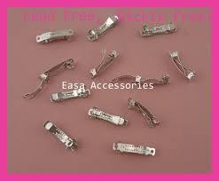 barrettes hair 50pcs silver finish 3 0cm 1 2 mini plain metal barrettes