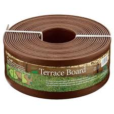 vigoro ecoborder 4 ft brown rubber landscape edging 6 pack