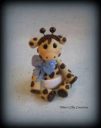 giraffe baby shower cake giraffe baby shower cake topper polymer clay baby giraffe