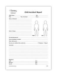 accident reporting book child accident pad foster care pinterest child and parents