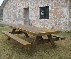 Picnic Table With Benches Heavy Duty Picnic Tables Made By Quality Patio Furniture