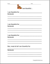 writing prompt thanksgiving i am thankful abcteach
