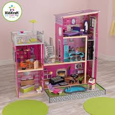 amazon com kidkraft u0027s uptown dollhouse with furniture toys