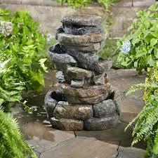 rock fountain ideas outdoor indoor rock garden fountain ideas diy