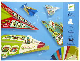djeco planes origami paper craft kit for kids djeco toys art