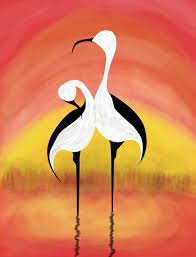 Feng Shui Painting Cranes Symbolize Longevity In Feng Shui And Are Used As A Cure To