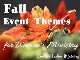 fall ideas for womens ministry from creative ministry