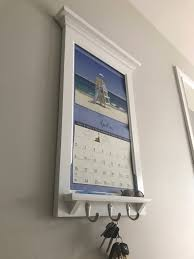 Wall Calendar Organizer Calendar Frame Family Organizer Storage Shelf And Keyhook
