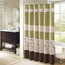 Green And Brown Curtains Briggs Embroidered Shower Curtain Green 72x72 Home
