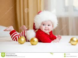 baby christmas baby girl weared christmas clothes stock photo image of baby