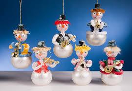 de carlini snowmen ornaments the cottage shop