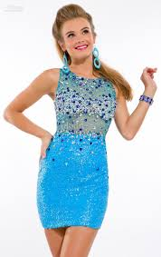 clothing open back cheap blue homecoming dresses sheer crew neck
