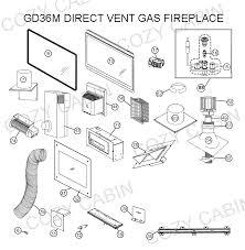 direct vent gas fireplace gd36m gd36m napoleon parts