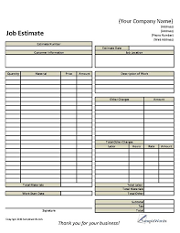 Carpet Cleaning Estimate Form by Estimate Sheet Materialsinvoice Jpg Excel