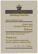 sign a wedding card personalised royal mail post box wedding card box sign post box