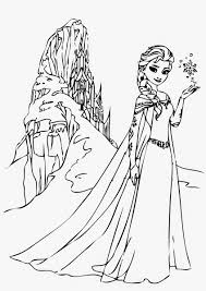 elsa and her castle coloring pages frozen young elsa coloring
