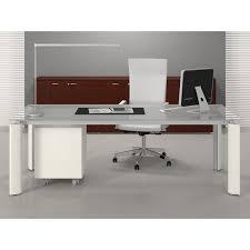table bureau verre table bureau verre fill avec retour mobilier de bureau