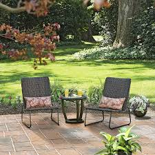 Pagosa Spring Steel End Table Garden Treasures Patio Furniture - Heavy patio furniture