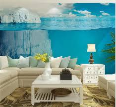 popular 3d floral wall murals wallpaper buy cheap 3d floral wall icebergs sea world large photo wallpaper mural living room bedroom wall art decor landscape wall paper
