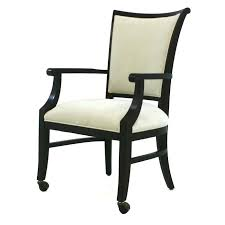 Dining Chairs With Casters Dining Chairs Casters Swivel Casual With Chromcraft W And Arms
