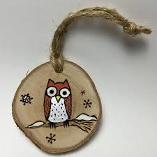 handmade owl ornament wood burned door timmythewoodman