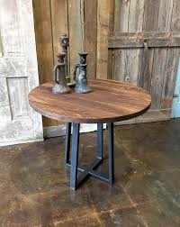 36 counter height table round industrial reclaimed wood pub table 36 counter height